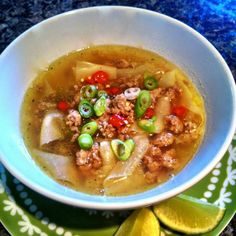 Easy to make Thai Pork and Noodle Soup
