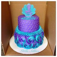 27 Ideas for birthday cake purple girls mermaid parties Mermaid Birthday Cakes, Mermaid Cakes, Cool Birthday Cakes, Birthday Cake Girls, Birthday Cupcakes, Birthday Parties, Birthday Ideas, Themed Parties, Dog Birthday