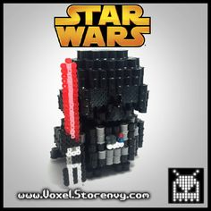 3D Darth Vader Star Wars perler beads by Voxel