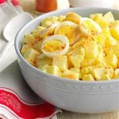 Mama's Potato Salad Recipe -This old-fashioned potato salad recipe doesn't have many ingredients, so it isn't as colorful as many that you find nowadays. But Mama made it the way her mother did, and that's the way I still make it today. Try it and see if it isn't one of the <I>best-tasting</I> potato salads you have ever eaten! —Sandra Anderson, New York, New York