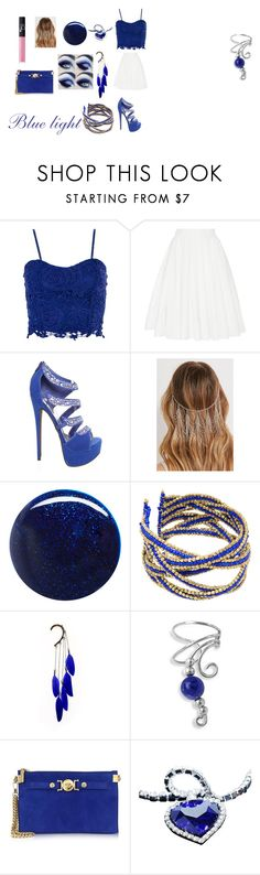 """""""Bluuue!"""" by joethemusiclover ❤ liked on Polyvore featuring Dorothy Perkins, Brock Collection, Forever 21, RGB, Anni Jürgenson, Bling Jewelry, Versace, NARS Cosmetics and sarika"""