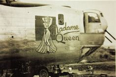 """""""Madame Queen"""" 380th Bomb Group Consolidated B-24 Liberator by San Diego Air & Space Museum Archives, via Flickr"""