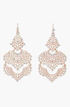 Filigree Tiered Chandelier Earrings. I like I want I love