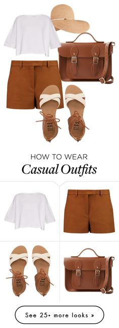 """""""Casual chic"""" by amyshoffstall on Polyvore featuring Eugenia Kim, The Cambridge Satchel Company, Emilio Pucci, Helmut Lang and Billabong"""