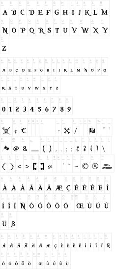 """Pieces of Eight pirate font from disneys """"Pirates of the Caribbean"""""""