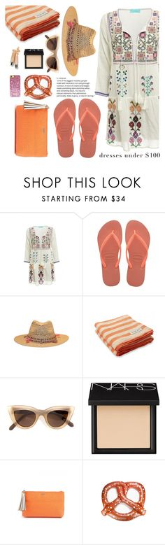 """Summer Dresses"" by sanddollardubai ❤ liked on Polyvore featuring Melissa Odabash, Frescobol Carioca, Quay, NARS Cosmetics and Clinique"