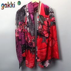 Vintage High Quality Large Scarf Shawl Wrap -12 Colors-