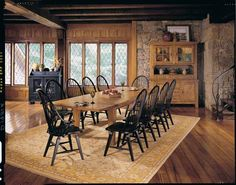 Home Gallery Furniture for Broyhill Attic Heirlooms, 9-pc Broyhill Attic Heirlooms Oak Rectangular Leg Table Dining Room Set