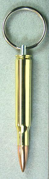 .30-06 Brass Full Metal Jacket Bullet Keychain