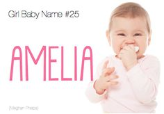 Baby names short, baby girl middle names, new baby names, amelia Baby Girl Middle Names, Baby Names Short, New Baby Names, Baby Names And Meanings, Cute Names, Boy Names, English Baby Names, Southern Baby Names, Baby Name Generator