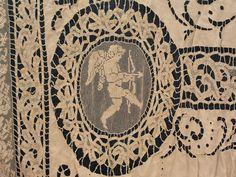 Pique - Belgian Antique Lace Curtain Panel