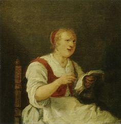 Portrait de l'épouse du boulanger, par Jan Miense Molenaer