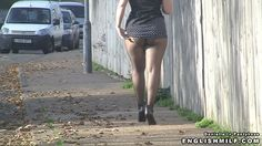 English milf Daniella in pantyhose public tights video. Daniella in mini skirt flashing nylon ass.