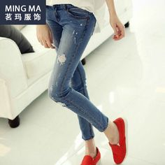 New Summer Style Women'S Jeans Torn Boyfriend For Women Shorts Ladies Ripped Jeans Trousers Denim Pants Dungarees Feminino Holes