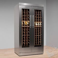 Vinotheque AlumaSteel 300 Wine Cabinet with N'FINITY Cooling Unit at Wine Enthusiast - $7919.00