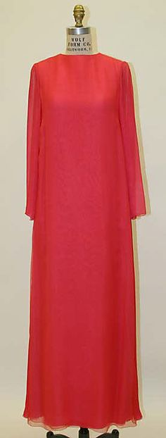 1967 Galanos Evening dress Metropolitan Museum of Art, NY. See more vintage dresses at www.vintagefashionandart.com/dresses