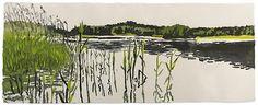 Eva Pietzcker. Summer. Japanese woodblock print image (moku hanga). 2010