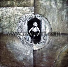 Modern decorative abstract Marilyn Monroe circle CL337