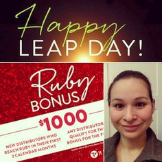 """Last chance to sign up in time for Double Ruby Bonus! I want to share this chance, I took a leap of faith and it's already paying off!! Facebook or message """"ruby"""" to 8176593516 to learn more, it could change your life!"""