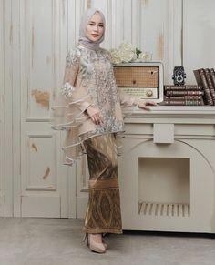 Inspired by Aghnia P. Kebaya Muslim, Kebaya Hijab, Muslim Dress, Model Kebaya Brokat Modern, Kebaya Modern Hijab, Malay Wedding Dress, Kebaya Wedding, Wedding Hijab, Wedding Dresses
