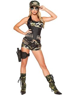 womens army costumes | Women's Sexy Army Baby Deluxe Costume - Military Party Costumes