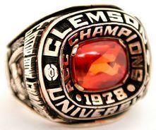 1978 Clemson Gator B Gator Bowl Clemson Ring Clemson