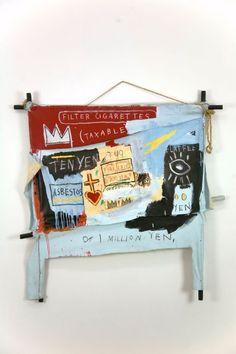 Jean-Michel Basquiat, One Million Yen on ArtStack #jean-michel-basquiat #art