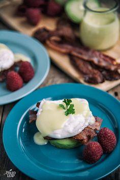 Eggs Benedict With Avocado And Bacon #Paleo