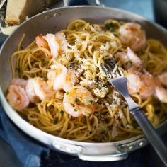 fi - Garlic and shrimp pasta Baked Spaghetti, My Cookbook, Shrimp Pasta, Atkins Diet, Yams, Couscous, Pasta Dishes, Superfood, Food And Drink