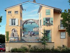 The French Banksy of Fake Facades 3d Street Art, Murals Street Art, Amazing Street Art, Street Art Graffiti, Street Artists, Amazing Art, Banksy, Street Painting, Mural Painting