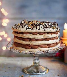 Hazelnut-meringue-cake
