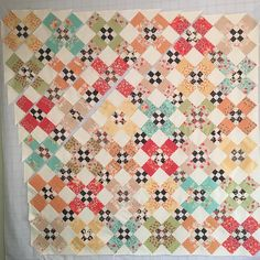 Over 1/2 way done sewing my blocks together for #AutumnGardenquilt #figtreefabric @mtnrosedesigns #chestnutfabric #modafabric