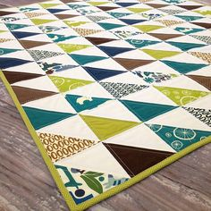 Safari Baby Boy Quilt-- maybe my favorite color choice for quilt