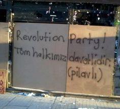 gezi-parki-eylemlerinde-duvar-yazilari_507319 Text Quotes, Wall Quotes, Slogan, Revolution, Haha, Graffiti, Peace, Thoughts, Turkey