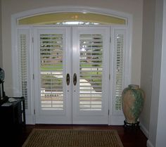 Plantation Shutter Door For Entry (but Only One Side)