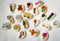 15 lovely hand painted pirate story stones by stOrystOneslou