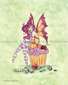 Sweet Tooth Fae candy fairy 8X10 PRINT by Amy Brown by AmyBrownArt