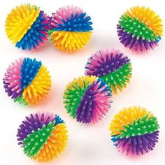 Rainbow Hedgehog Balls (Pack of 8): Amazon.co.uk: Toys & Games