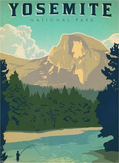 Yosemite Park California United States America Travel Advertisement Art Poster