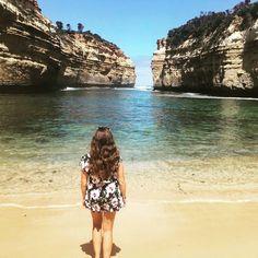 One of my favourite stops along the Great Ocean Road #lochardgorge #australia #victoria #greatoceanroad #roadtrip #sea #sun #sand #backpacker #travel #tooklongenoughtocapturethispose! by jadeb_123