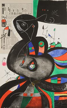Joan Miró  PLEASE COMMENT on pin if you know the following: date, title, medium and size of the work. Thank you!