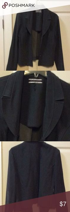 Grey suede like material business jacket Grey business suede like jacket. Can be worn dressy with skirt or causal with a nice pair of slacks. Amanda Smith Jackets & Coats Blazers