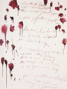 "tremendousandsonorouswords: "" Cy Twombly, Coronation of Sesostris, Panel 6, 2000 """