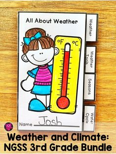 If you are looking for exciting, high-interest, and hands-on activities for your third grade students to learn about weather, seasons, climate, water cycle, and weather instruments this resource is for you! This science bundle is informative, interactive, and includes lessons for you to provide differentiated activities, illustrated vocabulary cards, interactive flip tab books, monthly weather tracker, weather badges, and includes two tests for end of the unit. Click to take a look at this unit. Science Tools, Science Resources, Teaching Activities, Reading Resources, Hands On Activities, Science Fun, Teaching Ideas, Creative Teaching, Science Lessons