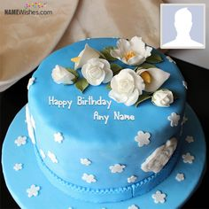 Write any name on white roses blue birthday cake which looks like real and make anyone's birthday awesome. It will make them feel special.