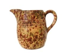 Spatterware pitcher from Worthington MN, early 1900's by SelectiveSalvage, $120.00