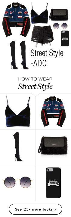 """Street Style"" by anatiller on Polyvore featuring Hyein Seo, T By Alexander Wang, Casadei, Karen Millen and Spitfire"