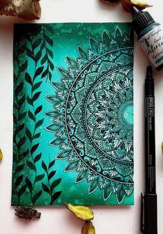 Mandala Art Therapy, Mandala Art Lesson, Mandala Artwork, Mandala Painting, Mandala Drawing, Mandala On Canvas, Doodle Art Drawing, Cool Art Drawings, Watercolor Mandala