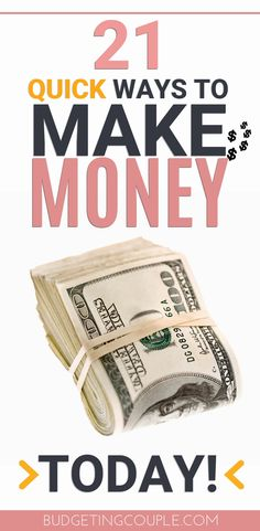 """Use these money making tips to get free money from home today! These 21 quick ways to make money today are perfect if you need some extra cash and have no time! Get paid for doing the things you're already doing, making these the perfect """"side hustle"""" f Free Money Now, Make Money Today, Make Money Fast, Way To Make Money, Make Money Online, How To Make, Making Money From Home, Online Cash, Online Shopping"""