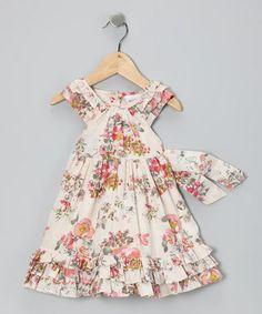 Cream Petal Dress - Infant